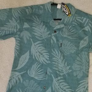 Mens Palmwave Hawaiian Casual Button Up